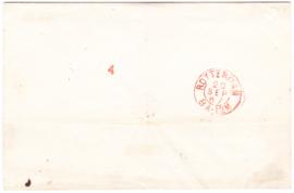NVPH 4 dubbel frankering Haarlemse druk  op briefomslag