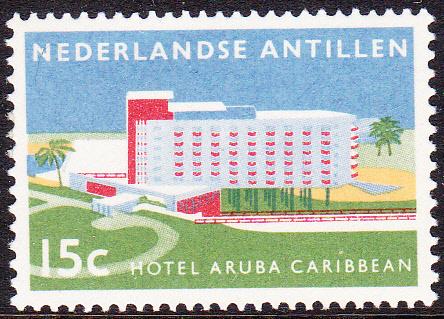 NVPH  297 ''Opening hotel Aruba Carribean'' 1959 Postfris cataloguswaarde: 0,50