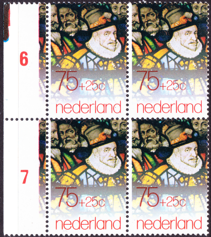 Plaatfout  1178 PM in blok van 4 Postfris  Cataloguswaarde 10,00