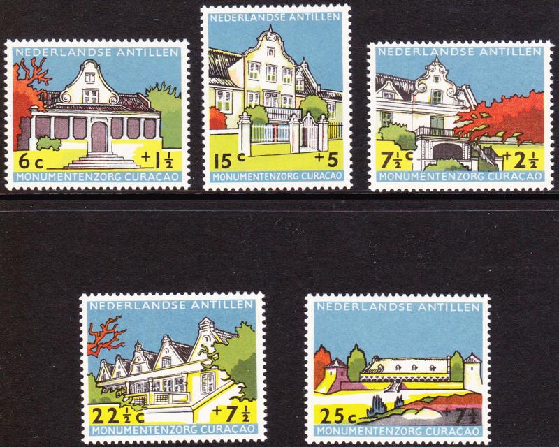 NVPH  298-302 ''Monumentenzorg'' 1959  Postfris cataloguswaarde: 10,00