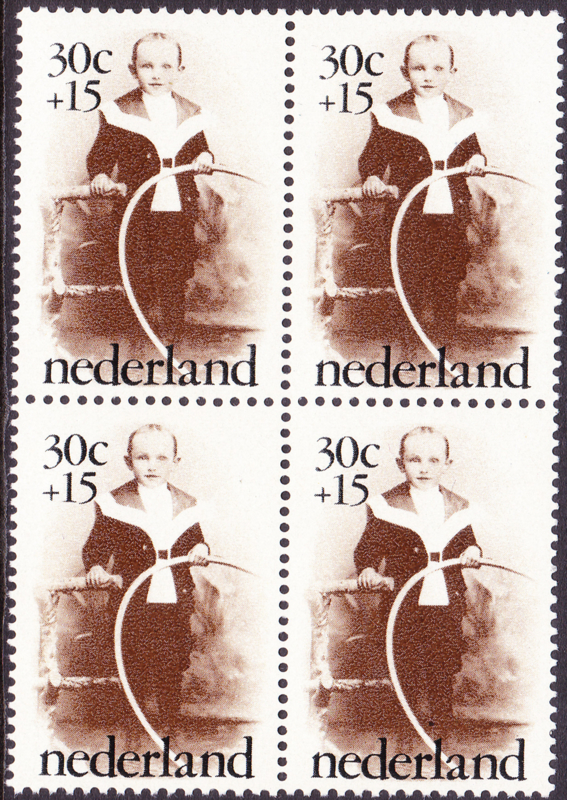 Plaatfout  1059 PM1  Postfris in blok van 4  Cataloguswaarde 14,00