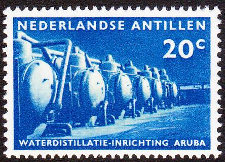 NVPH  303 ''Waterdistillatie op Aruba'' 1959 Postfris cataloguswaarde: 0,60