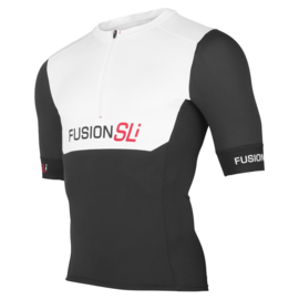 Fusion SLI Tri Top Short Sleeve White-Black Dames
