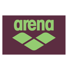 Arena Pool Soft Towel Red Wine Shiny Green