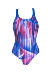 Arena W Shading Prism Swim Pro Back One Piece Blue Multi