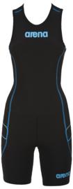 Arena Trisuit ST Rear Zip Womens Black-Turquoise