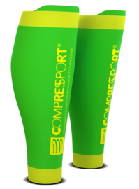 Compressport Calf Sleeves R2 V2 Groen-Geel