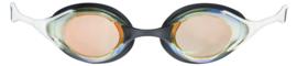 Arena Cobra Swipe Mirror Zwembril Dark Yellow Copper-White