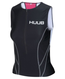 HUUB Essential Tri Singlet Dames Black-Pink