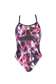 Arena W Night Lights Lightech Back One Piece Black-Pink