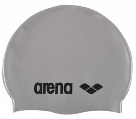 Arena Classic Silicone Badmuts silver-black