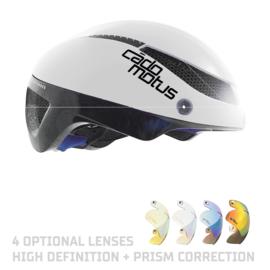 Cadomotus Omega Aerospeed Helm wit voor schaatsen en wielrennen
