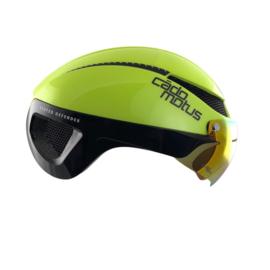 Cadomotus Omega Aerospeed Helm Fluo Geel  voor schaatsen en wielrennen