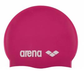 Arena Classic Silicone Badmuts fuchsia-white