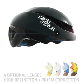 Cadomotus Omega Aerospeed Helm Zwart voor schaatsen en wielrennen