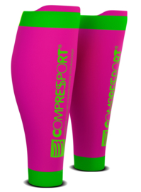 Compressport Calf Sleeves R2 V2 Roze-Groen