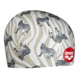 Arena Poolish Moulded Cap Zebras