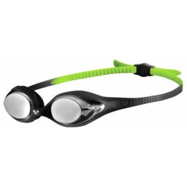 Arena Zwembril Junior Spider Spiegel Zwart-Groen