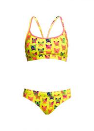 Funkita Hot Diggity Racerback  Bikini Meisjes maat 176
