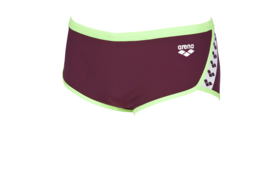 Arena Team Stripe - Low Waist - Red-Wine-Shiny-Green