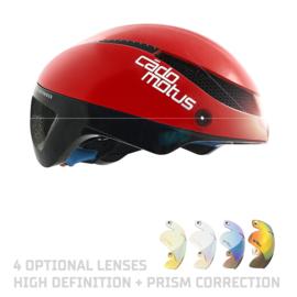 Cadomotus Omega Aerospeed Helm Rood  voor schaatsen en wielrennen