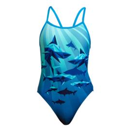 Funkita Shark Bay Single Strap Badpak Meisjes