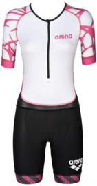 Arena Trisuit Aero Dames Black-White-Fuchsia