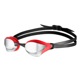 Arena Cobra Core Spiegel Zwembril silver-red-black