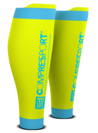 Compressport Calf Sleeves R2 V2 Geel-Blauw