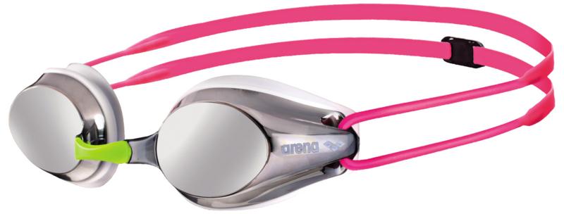 Arena Tracks Junior Mirror Silver White Fuchsia