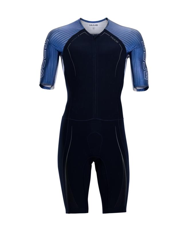 HUUB Anemoi Aero+ Tri Suit Flatlock Heren Navy/Petrol