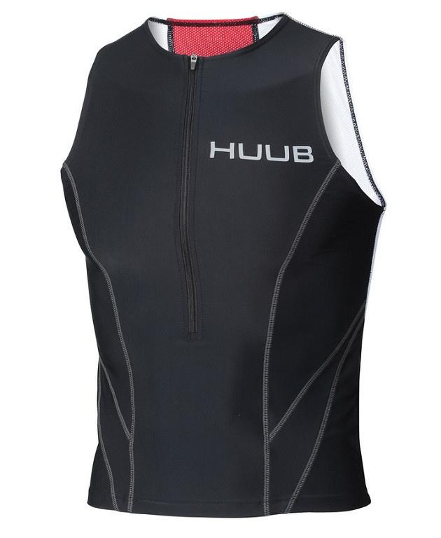 HUUB Essential Tri Top Mens Black-Red-White