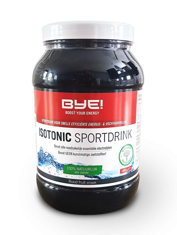 BYE Isotonic Sportdrink Rood Fruit 1000gr