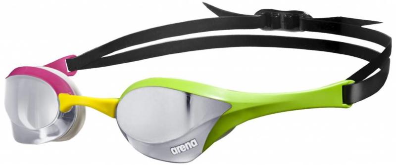 Arena zwembril Cobra Ultra Spiegel Zilver-Groen-Roze