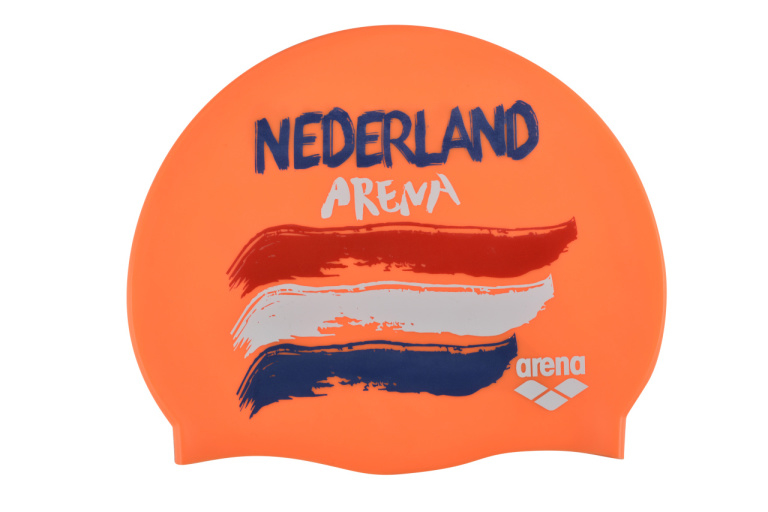 Arena Badmuts Silicone Flags Nederland Oranje