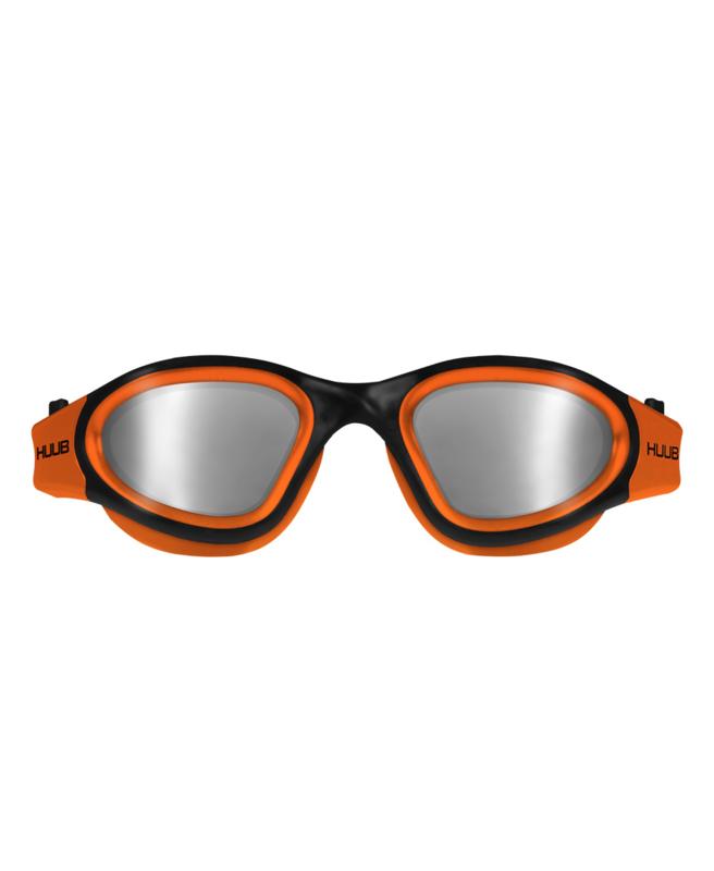 HUUB Aphotic Zwembril - Polarised Mirror - Oranje