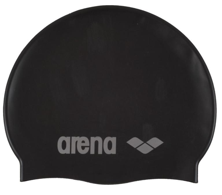 Arena Classic Silicone Junior Badmuts Black-Silver