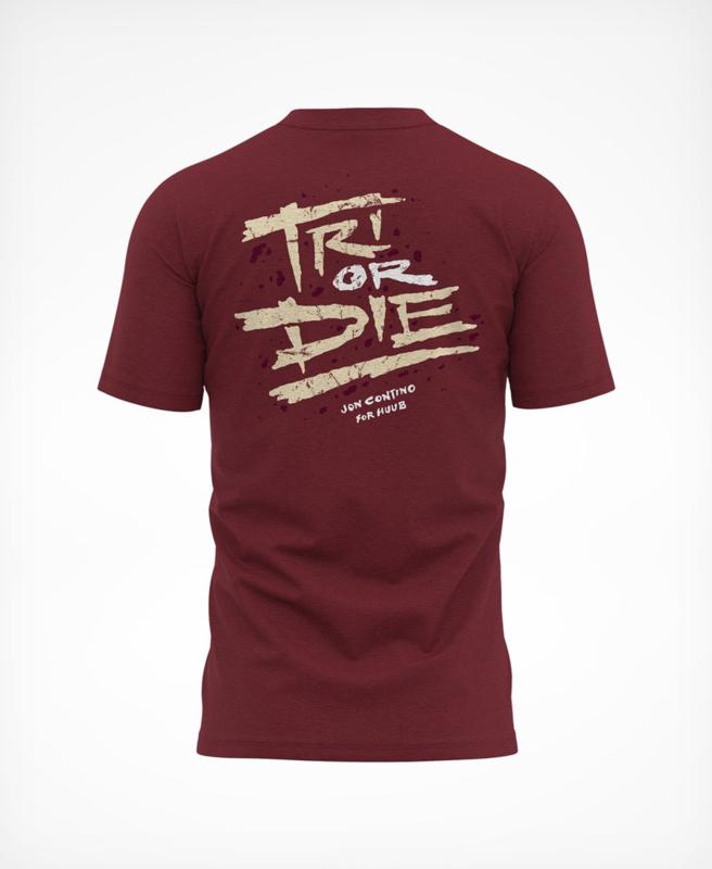 HUUB Tri Or Die T-Shirt Maroon