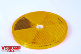 Reflector geel, diameter 78 mm (01212)