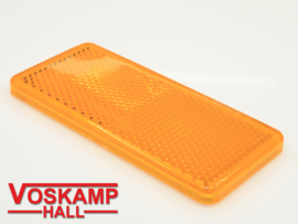 Reflector oranje rechthoekig 90 x 40 mm (01210)