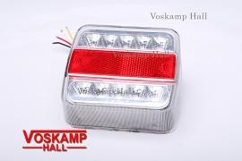 Achterlicht LED lamp 12v wit/rood (40065)