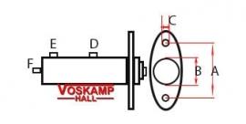 Hoofdremcilinder met achteraansluiting (43075)