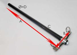 Disselbril RVS met pijp voor 2-spanboom (42645)