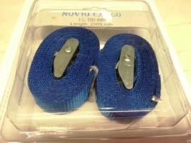 2 stuks Spanband blauw zonder ratel
