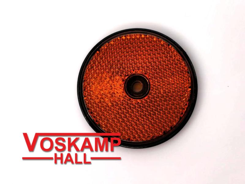 reflector oranje, diameter 60 mm (01213)