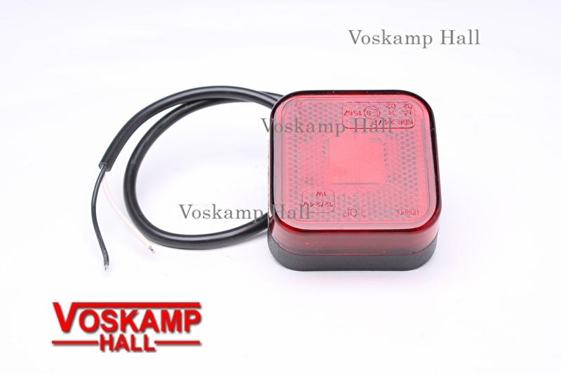 Achterlicht LED lamp 12v rood (40056)