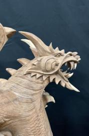 Draak suar hout, hoogte 60 cm