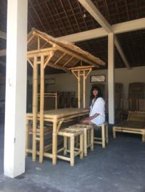 Bamboe tuinset met dakje