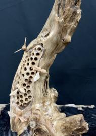 Bijenhotel met 5 bijtjes, hoogte 40 cm