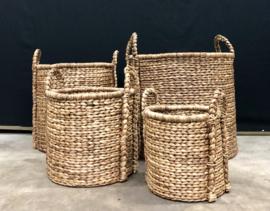 Hyacint gevlochten mand maat S 34cm breed en 35cm hoog